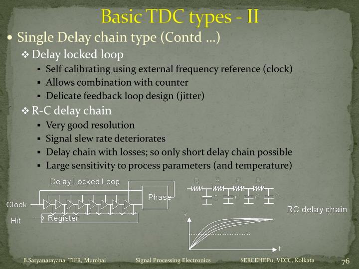 Basic TDC types - II