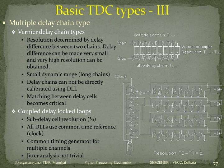 Basic TDC types - III
