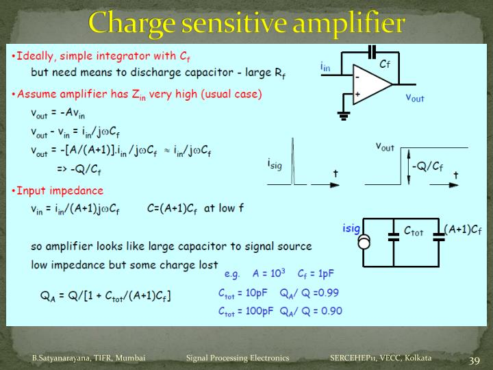 Charge sensitive amplifier