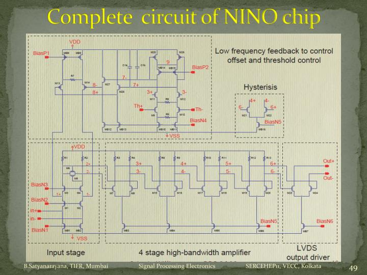 Complete  circuit of NINO chip