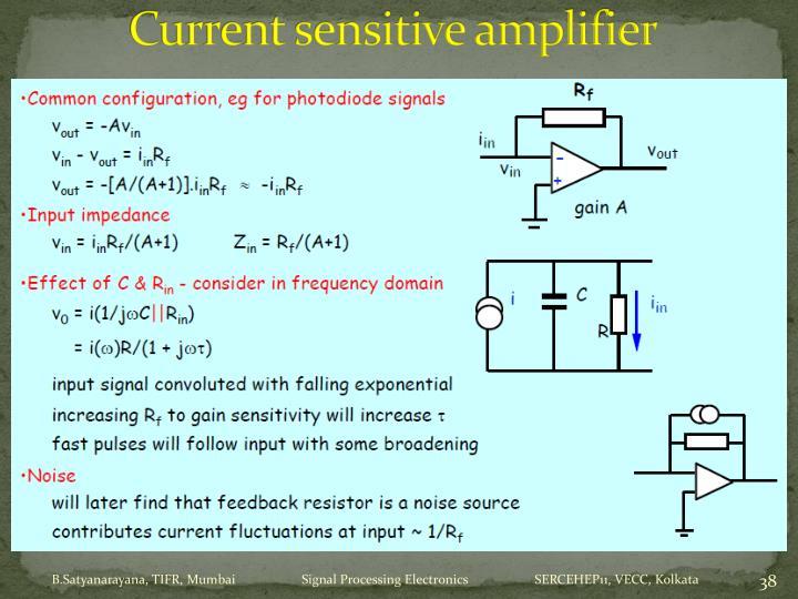 Current sensitive amplifier