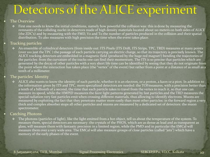 Detectors of the ALICE experiment