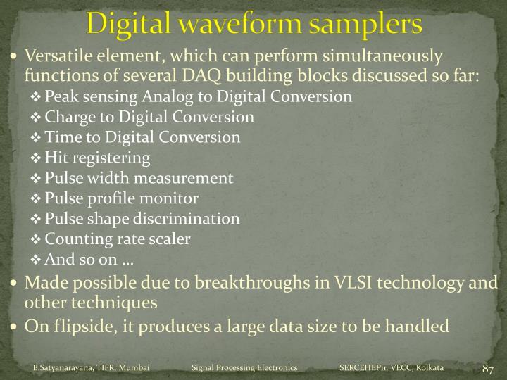 Digital waveform samplers