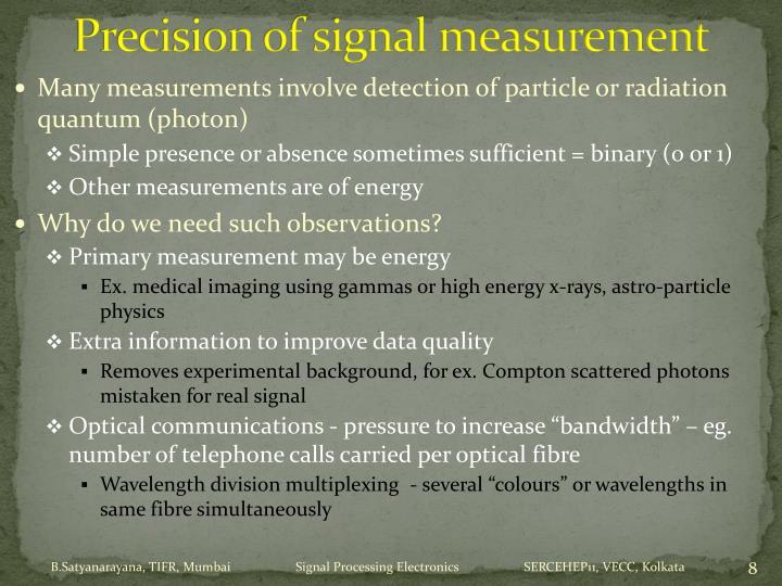 Precision of signal measurement