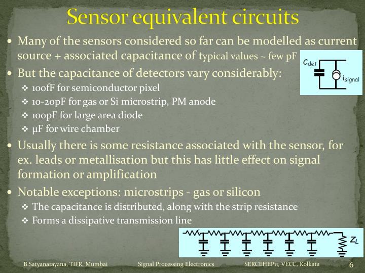 Sensor equivalent circuits