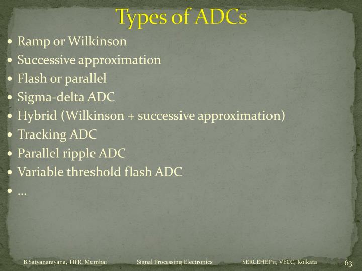 Types of ADCs