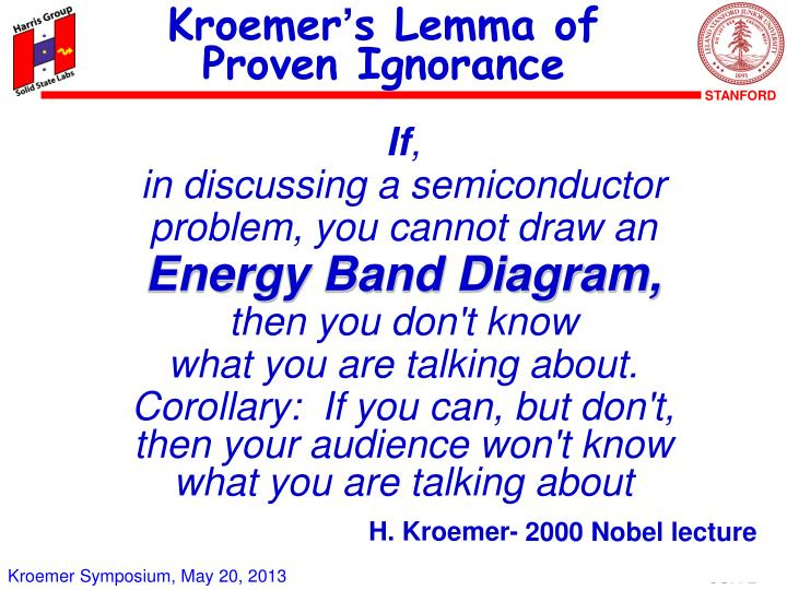 Kroemer s lemma of proven ignorance