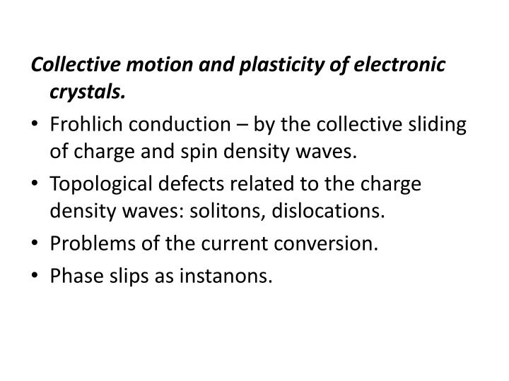 Collective motion and