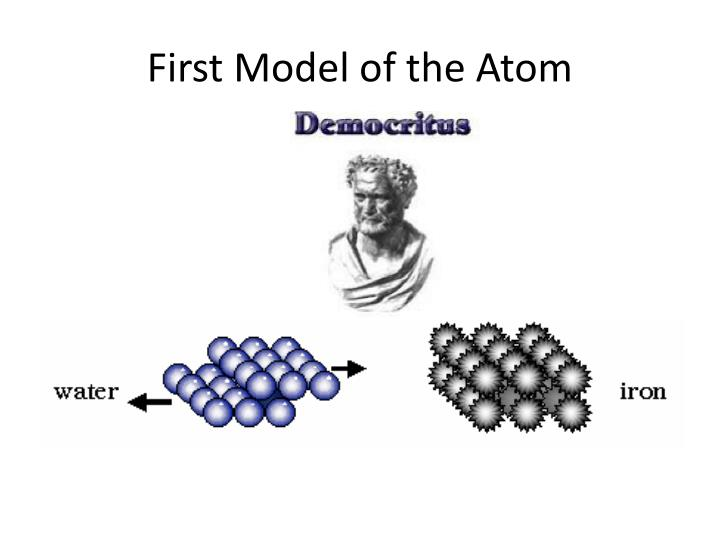 First model of the atom