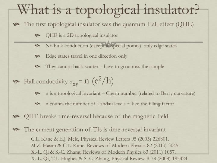 What is a topological insulator?
