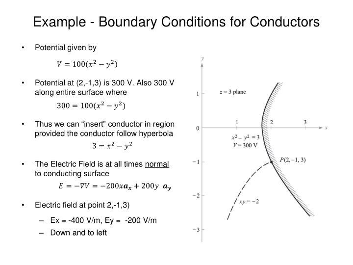 Example - Boundary Conditions for Conductors