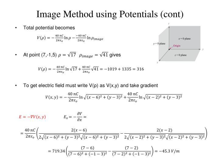 Image Method using Potentials (