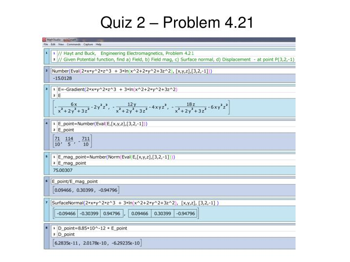 Quiz 2 – Problem 4.21
