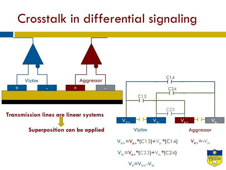 Crosstalk in differential signaling