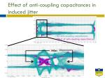 effect of anti coupling capacitances in induced jitter