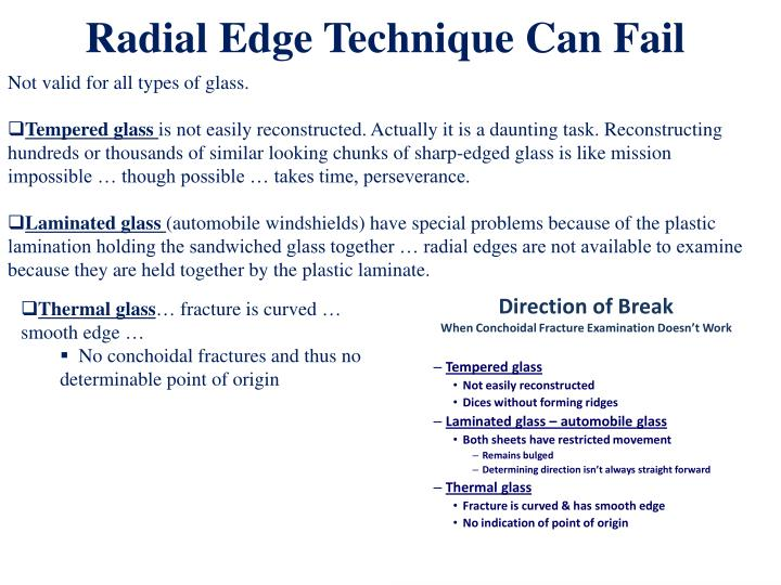 Radial Edge Technique Can Fail