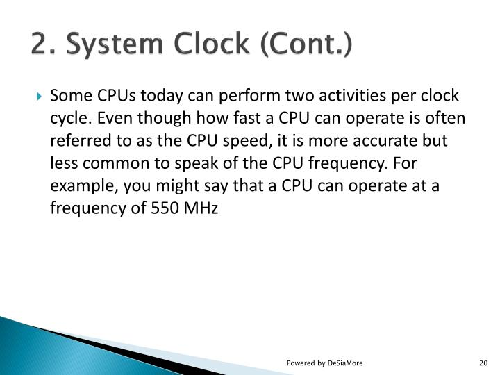2. System Clock (Cont.)