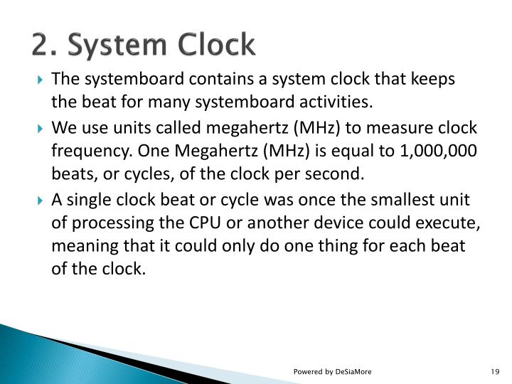 2. System Clock