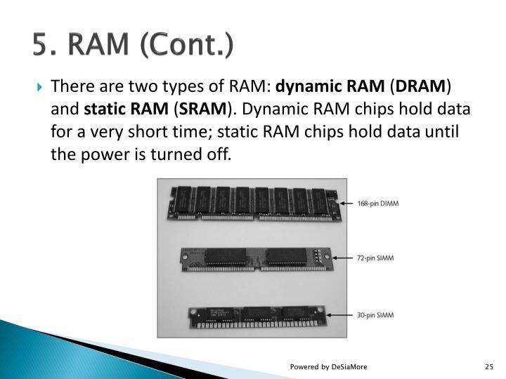 5. RAM (Cont.)