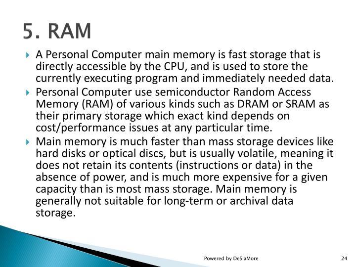 5. RAM