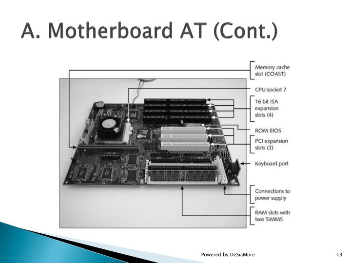 A. Motherboard AT (Cont.)
