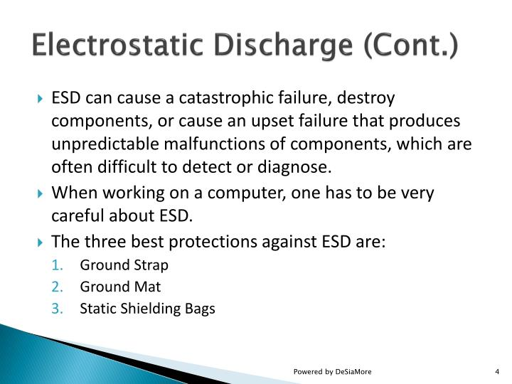 Electrostatic Discharge (Cont.)