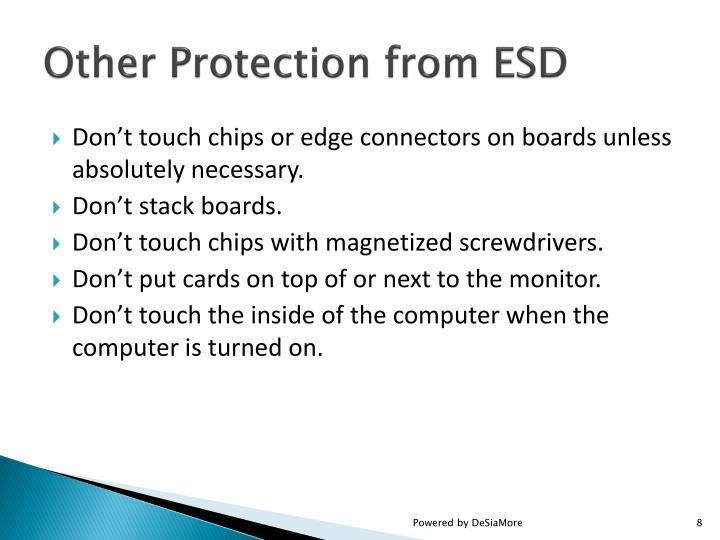 Other Protection from ESD
