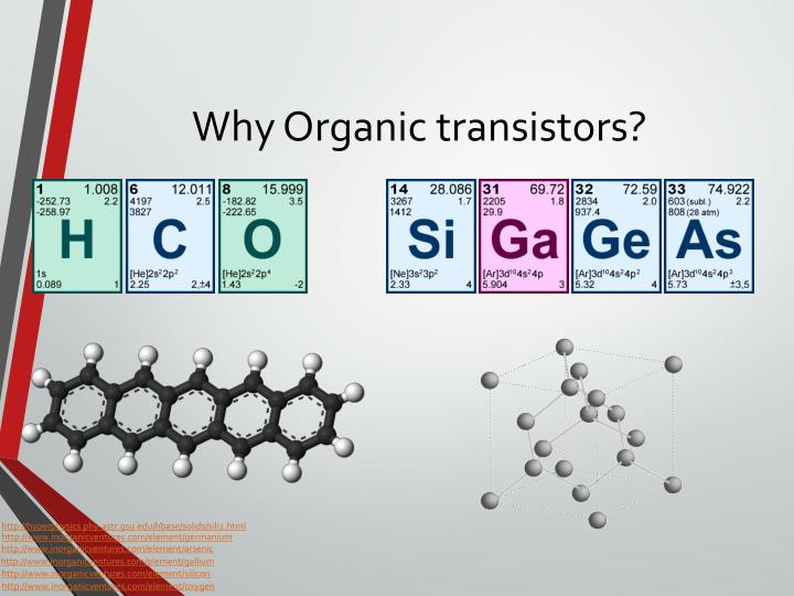 Why Organic transistors?