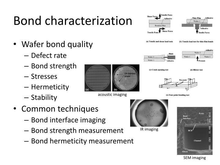 Bond characterization