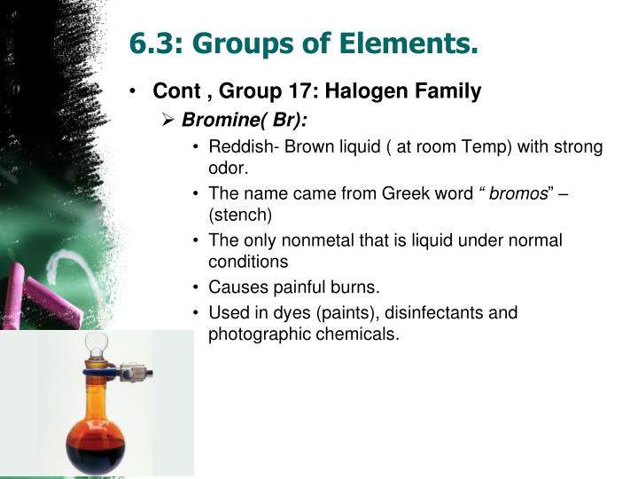 6.3: Groups of Elements.