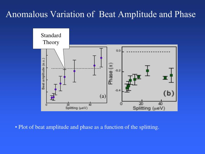 Anomalous Variation of  Beat Amplitude and Phase