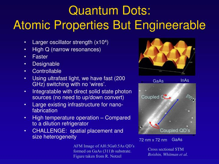 Quantum dots atomic properties but engineerable