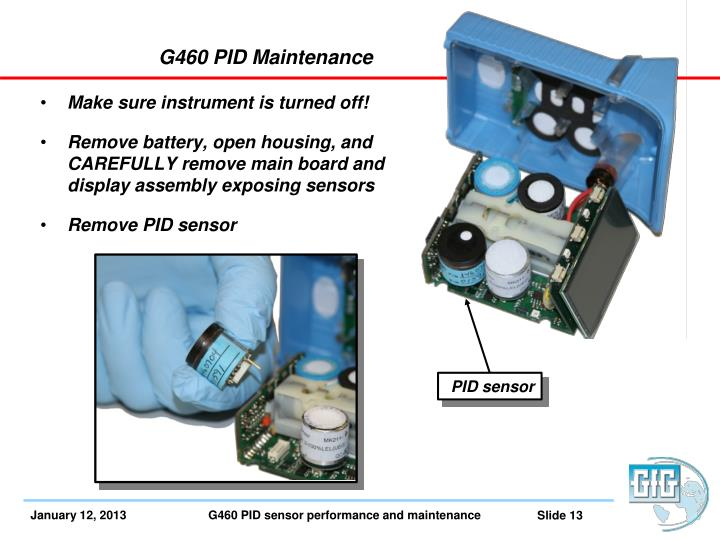 G460 PID Maintenance