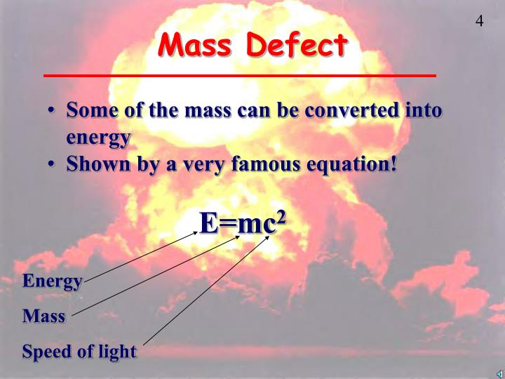 Mass Defect