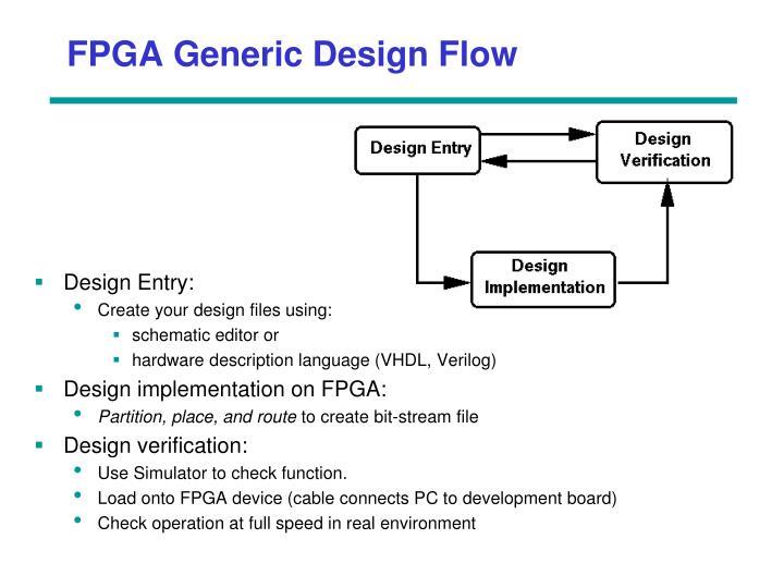 FPGA Generic Design Flow