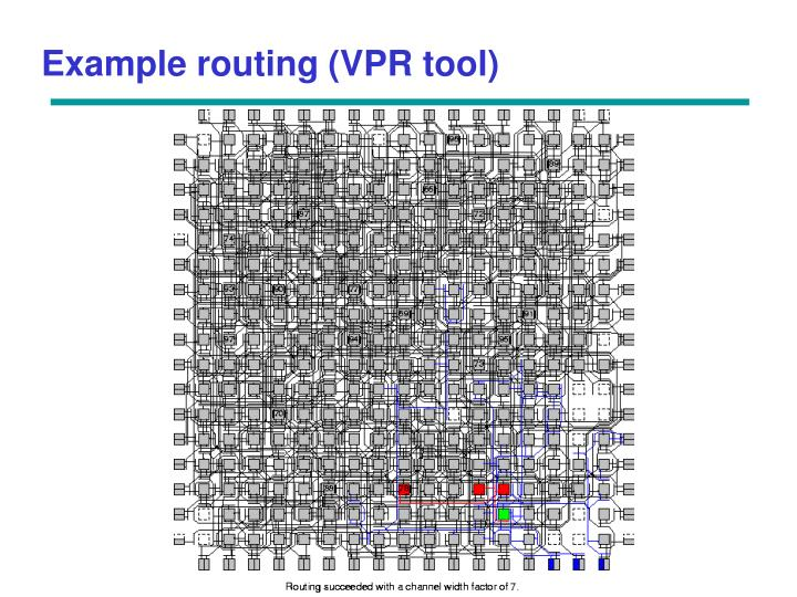 Example routing (VPR tool)