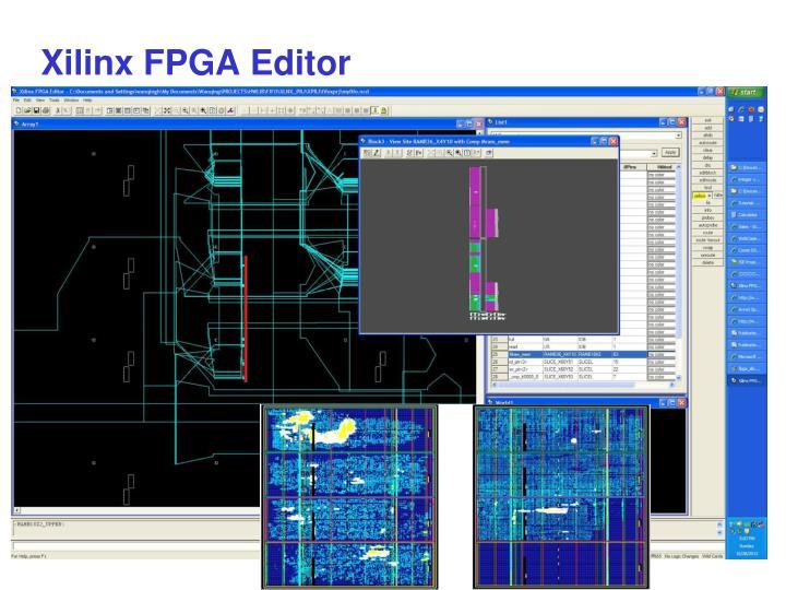 Xilinx FPGA Editor
