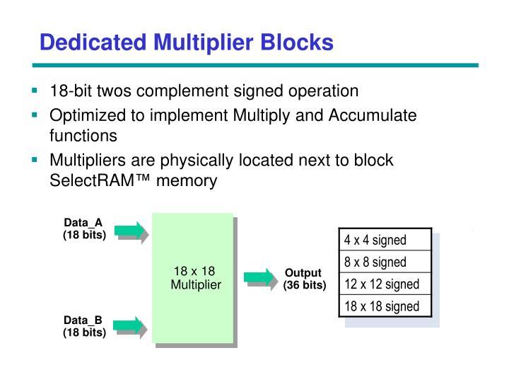 Dedicated Multiplier Blocks