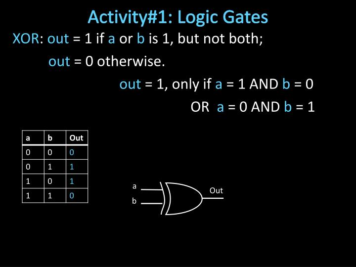 Activity#1: Logic Gates