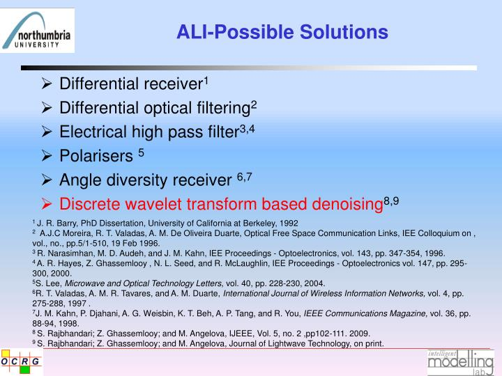 ALI-Possible Solutions
