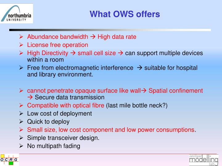 What OWS offers