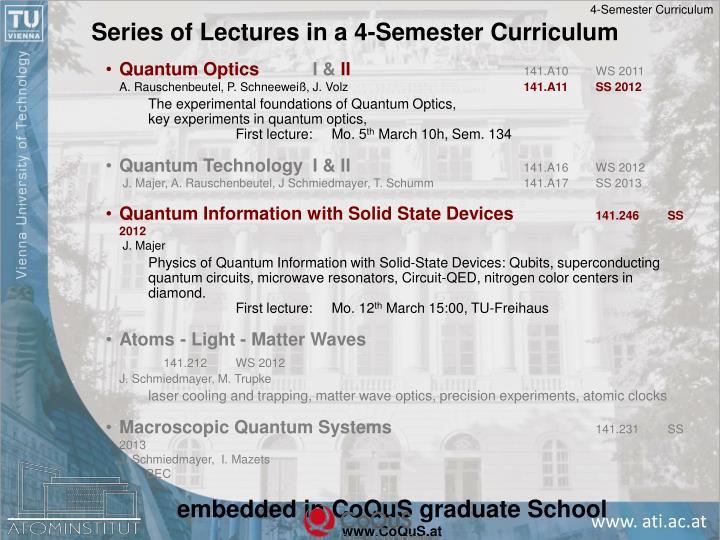 4-Semester Curriculum