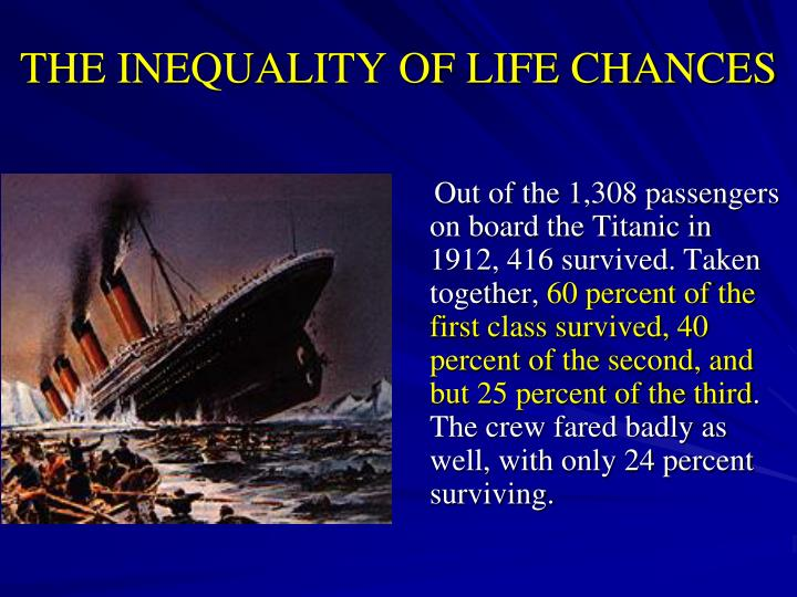 THE INEQUALITY OF LIFE CHANCES