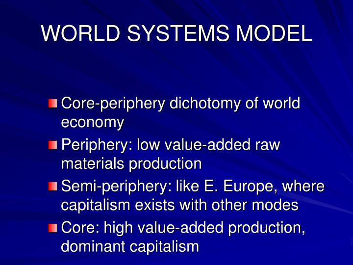 WORLD SYSTEMS MODEL