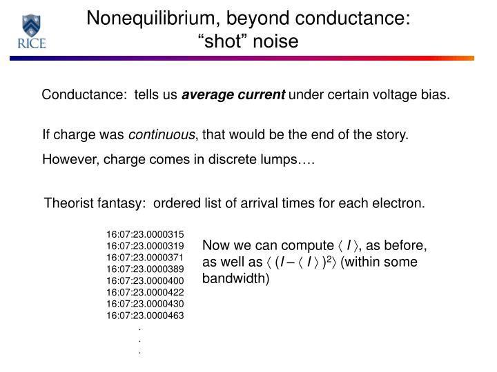 Nonequilibrium