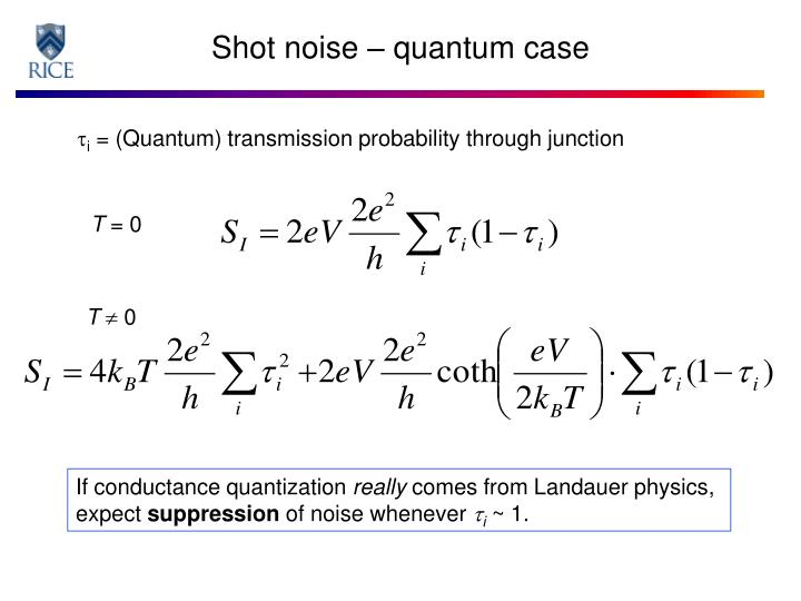 Shot noise – quantum case