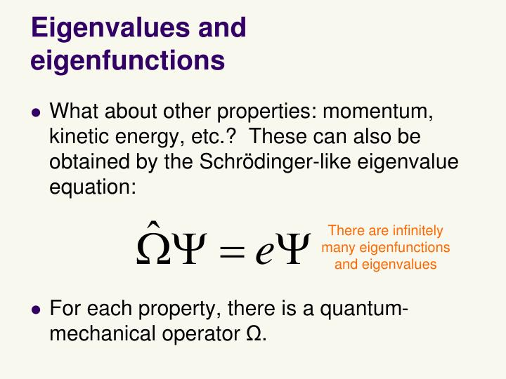 Eigenvalues and