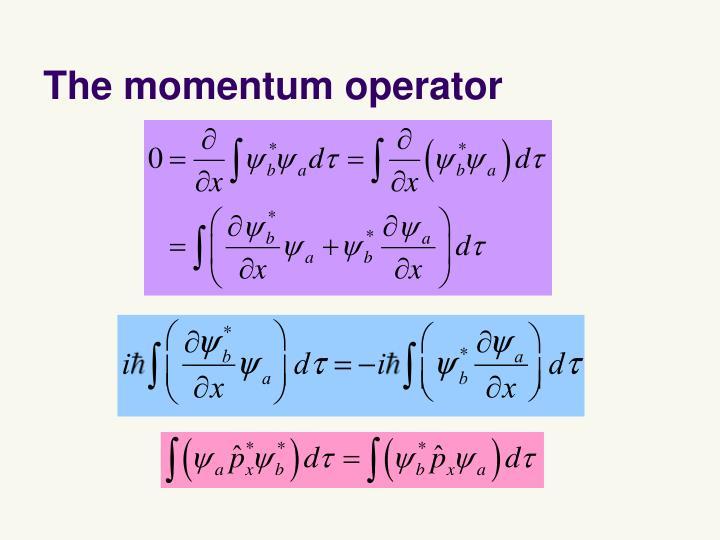 The momentum operator