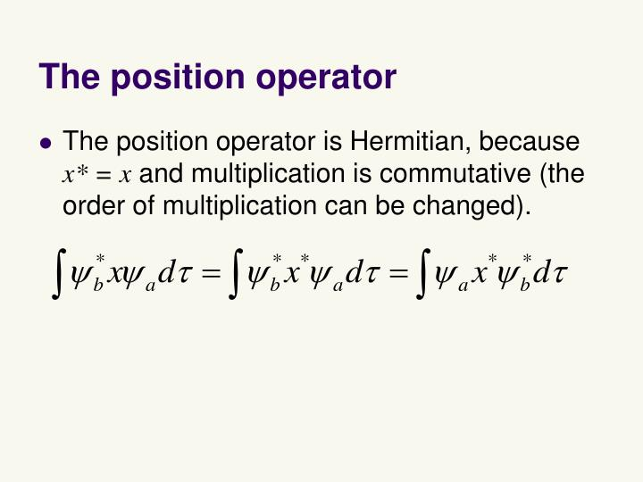 The position operator