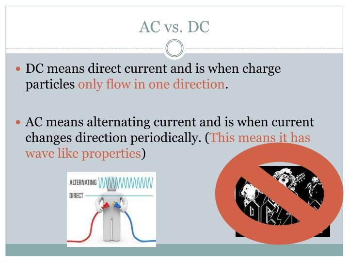 AC vs. DC